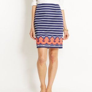 Vineyard Vines Nautical Stripe Embroidery Skirt